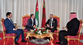 Abdallah II de Jordanie reçu au Palais royal de Rabat le 22 mars 2017. MAP/ AIC PRESS