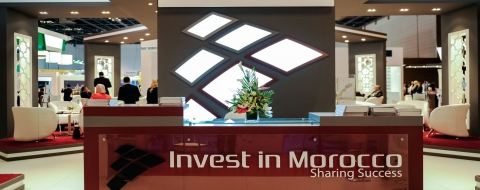 Un stand d'Invest Morocco. DR